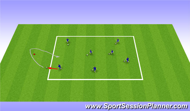 Football/Soccer Session Plan Drill (Colour): Soccer Knockout