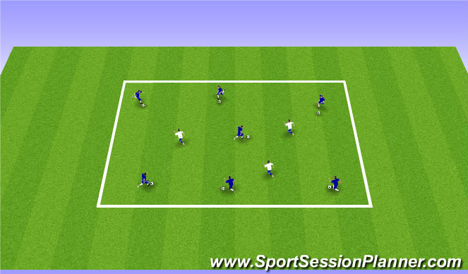 Football/Soccer Session Plan Drill (Colour): Zombies
