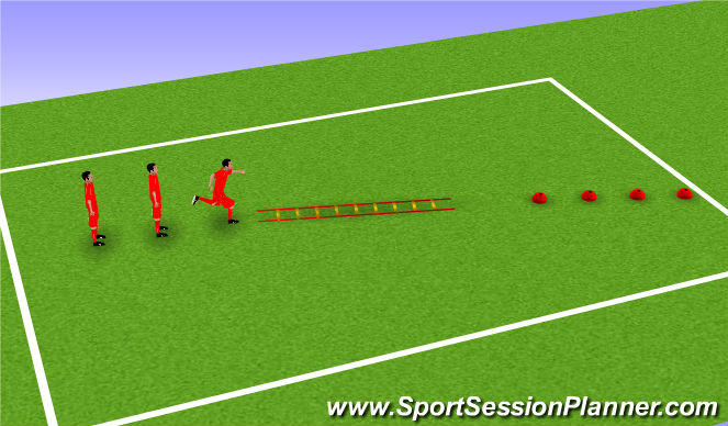 Football/Soccer Session Plan Drill (Colour): Ladders and Agility