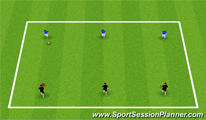 Football/Soccer Session Plan Drill (Colour): Defending Warm-up