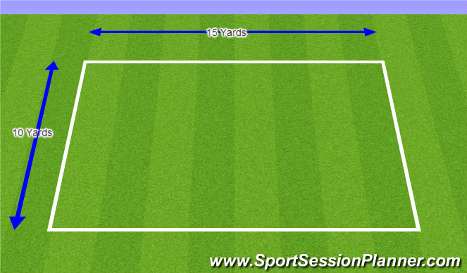 Football/Soccer Session Plan Drill (Colour): 5v2 Warm-up