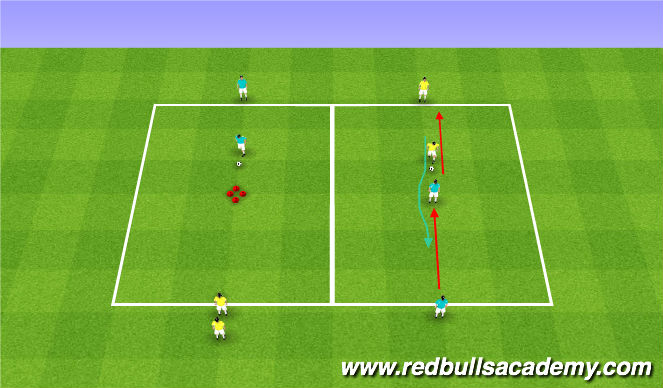 Football/Soccer Session Plan Drill (Colour): Technical - Unopposed /SemiOpposed