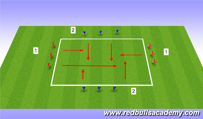 Football/Soccer Session Plan Drill (Colour): Criss Cross