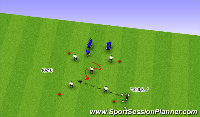 Football/Soccer Session Plan Drill (Colour): SI Quick Possession/Immediate Chase