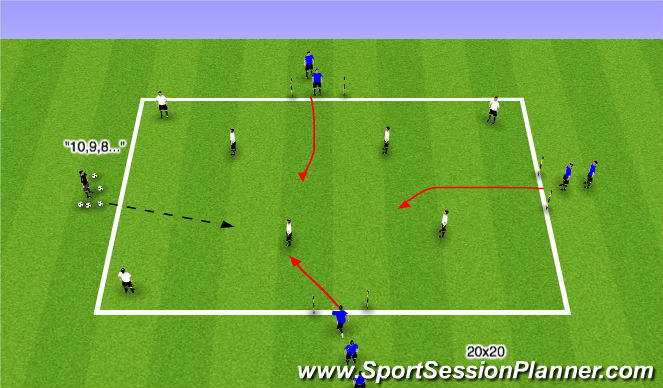 Football/Soccer Session Plan Drill (Colour): SII Immediate Chase Progression