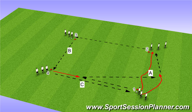 Football/Soccer Session Plan Drill (Colour): SI Passing Box