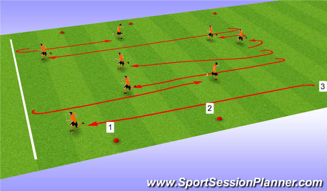 Football/Soccer Session Plan Drill (Colour): Basic Session