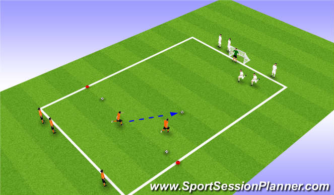Football/Soccer Session Plan Drill (Colour): Session Outline