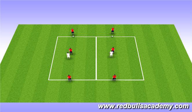 Football/Soccer Session Plan Drill (Colour): Tech 20mins