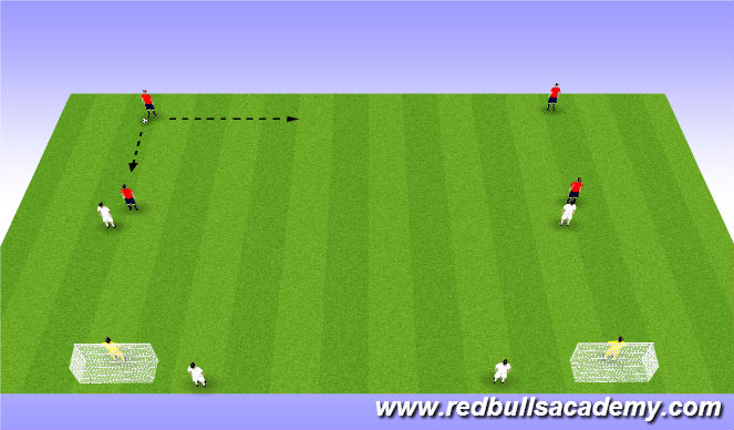 Football/Soccer Session Plan Drill (Colour): Tact 20mins