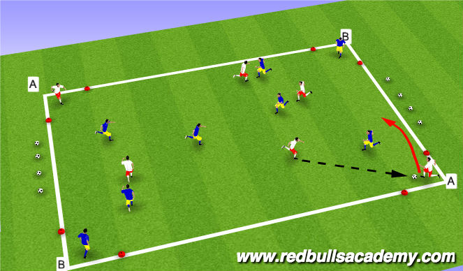 Football/Soccer Session Plan Drill (Colour): Diagonal Game