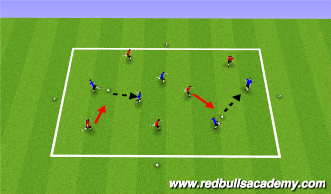 Football/Soccer Session Plan Drill (Colour): Gold MIners