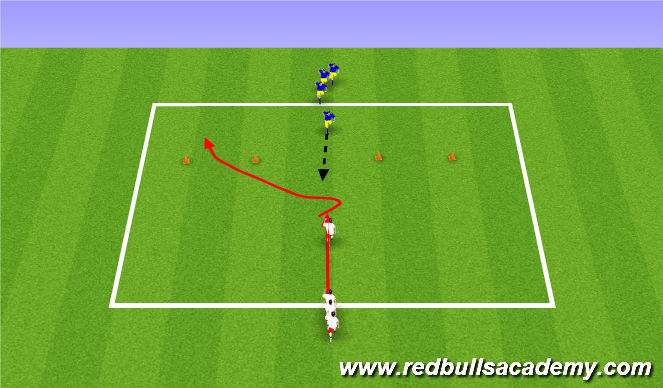 Football/Soccer Session Plan Drill (Colour): Main activity 1 Week 2 only