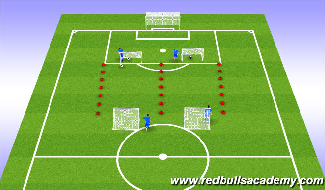 Football/Soccer Session Plan Drill (Colour): Main Acitivity 3