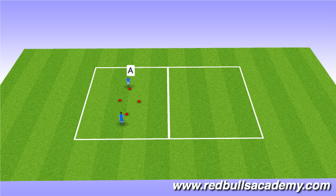 Football/Soccer Session Plan Drill (Colour): Watm up