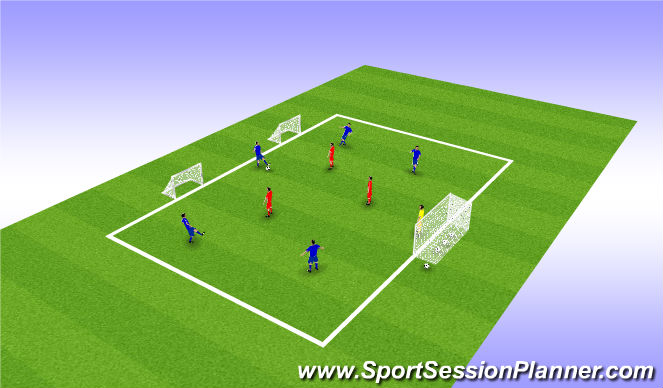 Football/Soccer Session Plan Drill (Colour): 5v3