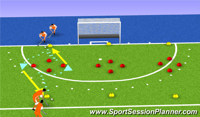 Hockey Session Plan Drill (Colour): turn
