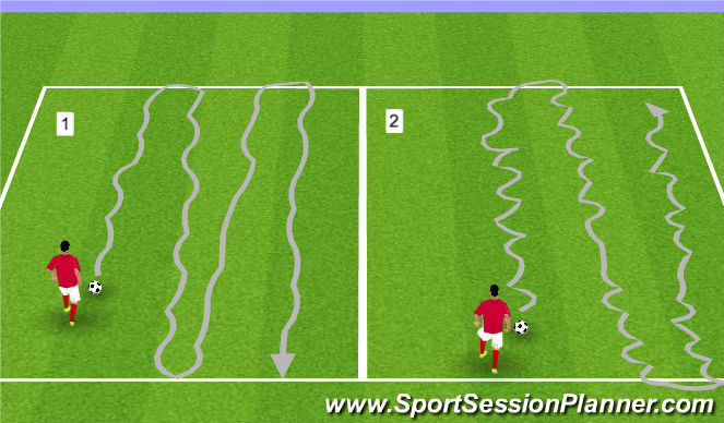 Football/Soccer Session Plan Drill (Colour): A. WARM-UP