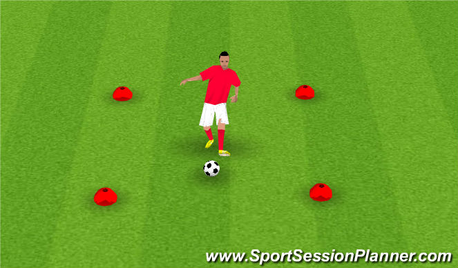 Football/Soccer Session Plan Drill (Colour): C. JUGGLING