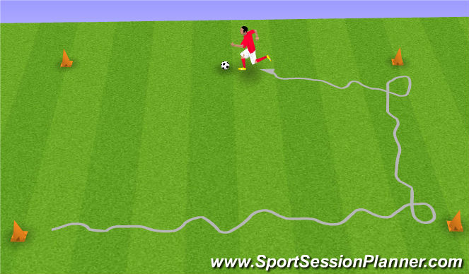 Football/Soccer Session Plan Drill (Colour): D. CHANGE OF DIRECTION MOVES (4 points)