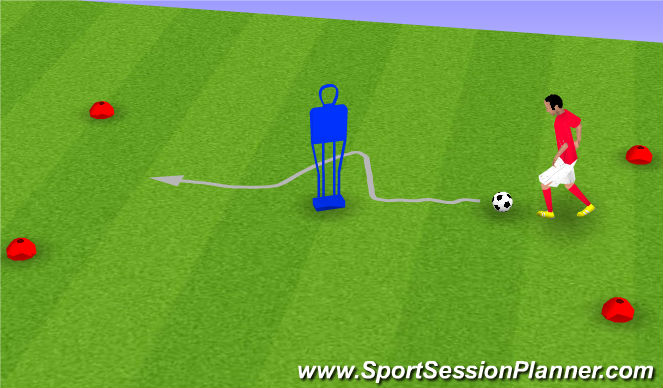 Football/Soccer Session Plan Drill (Colour): F. ATTACKING MOVES