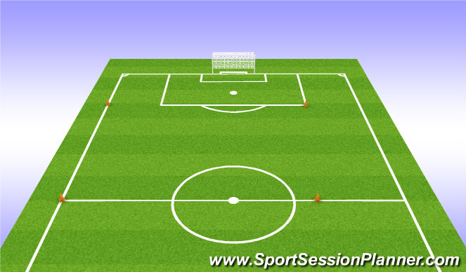 Football/Soccer Session Plan Drill (Colour): Half Gassers