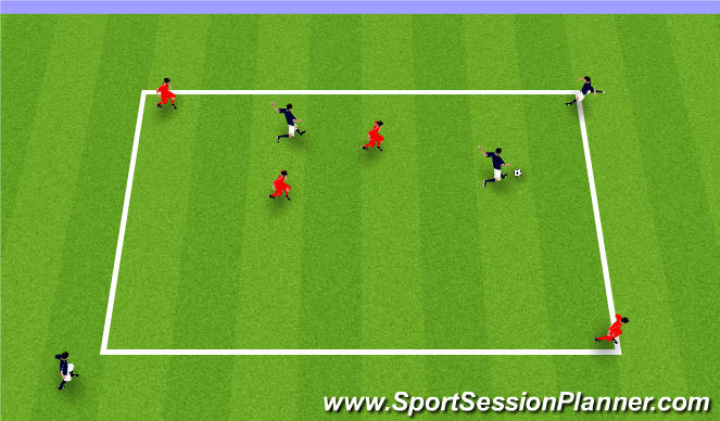 Football/Soccer Session Plan Drill (Colour): Diagonal Targets