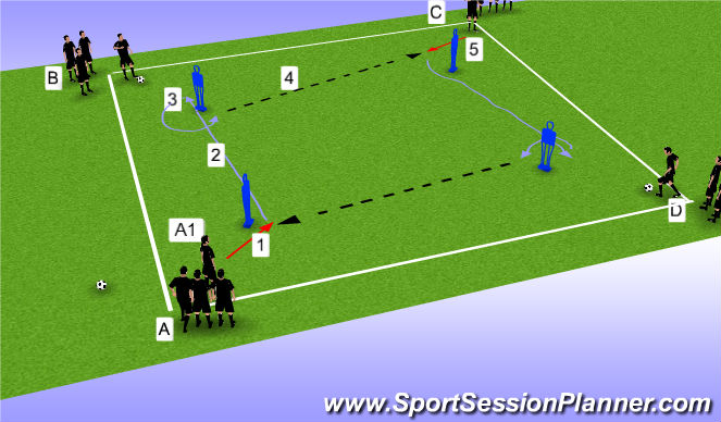 Football/Soccer Session Plan Drill (Colour): OTO Prog 2