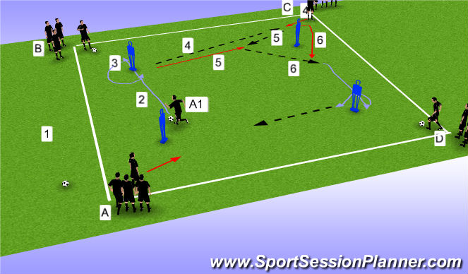 Football/Soccer Session Plan Drill (Colour): OTO Prog 3