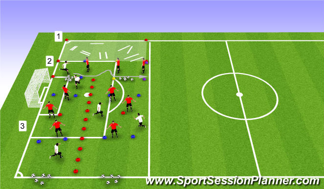 Football/Soccer Session Plan Drill (Colour): Movement Skills