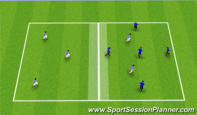 Football/Soccer Session Plan Drill (Colour): Possession 5vs5