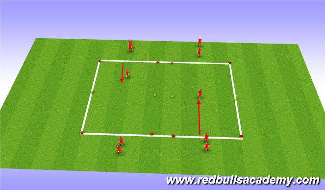 Football/Soccer Session Plan Drill (Colour): scissor intro