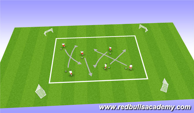 Football/Soccer Session Plan Drill (Colour): Messi and Ronaldo 2