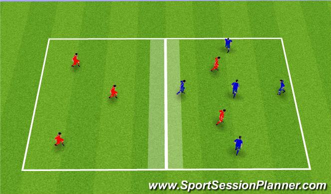 Football/Soccer Session Plan Drill (Colour): Possession 5vs5