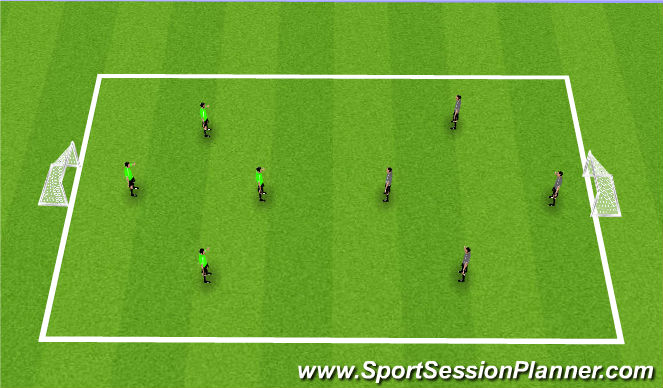Football/Soccer Session Plan Drill (Colour): Match 4v4