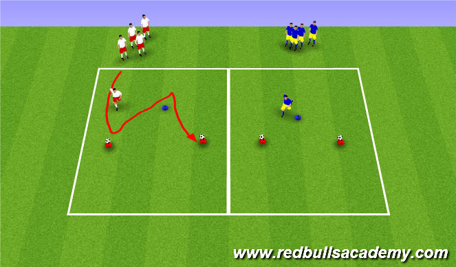Football/Soccer Session Plan Drill (Colour): Warm Up 2 - Body Shape