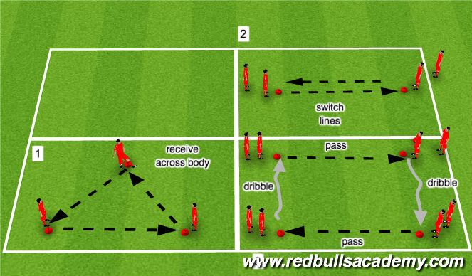 Football/Soccer Session Plan Drill (Colour): Passing Ball Mastery