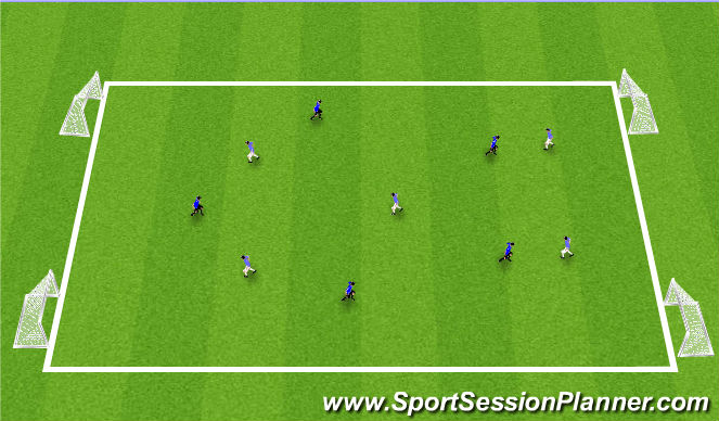 Football/Soccer Session Plan Drill (Colour): Station #3