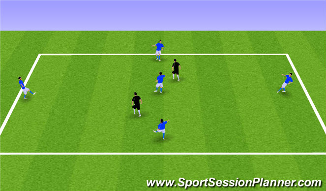 Football/Soccer Session Plan Drill (Colour): 5v2 Olders