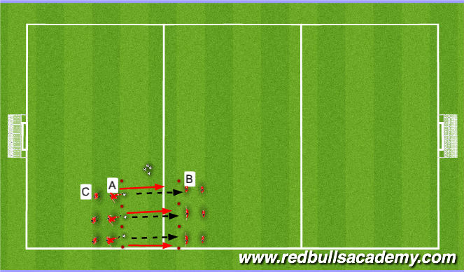 Football/Soccer Session Plan Drill (Colour): Warm up- Passing lines