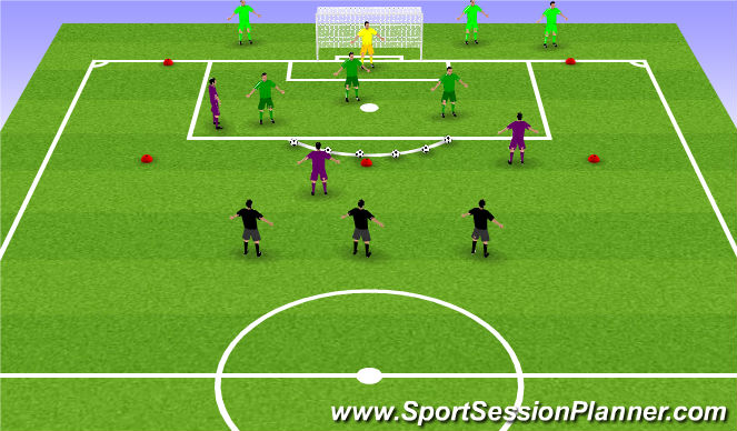 Football/Soccer Session Plan Drill (Colour): Jersey Ball