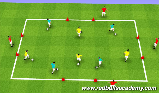 Football/Soccer Session Plan Drill (Colour): Ian Barker - Doors