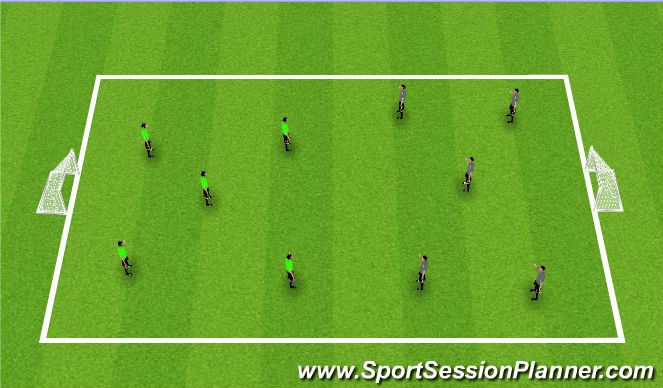 Football/Soccer Session Plan Drill (Colour): Match 5v5