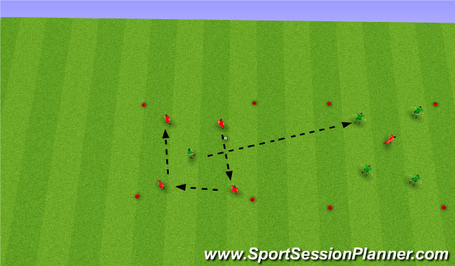 Football/Soccer Session Plan Drill (Colour): 4 v X Possession/Win