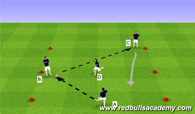 Football/Soccer Session Plan Drill (Colour): Receiving to turn - Opposed