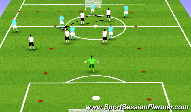 Football/Soccer Session Plan Drill (Colour): Lead in