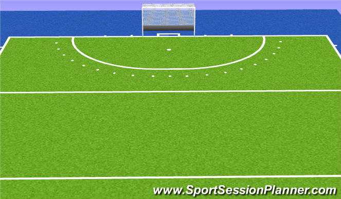 Hockey Session Plan Drill (Colour): Matchplay
