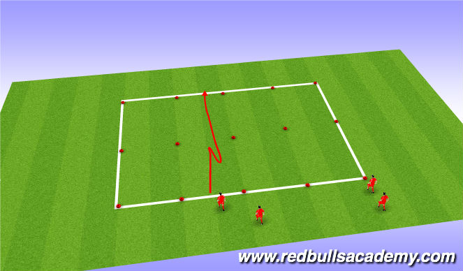 Football/Soccer Session Plan Drill (Colour): Messi Xavi SAQ Stop Start Coordination