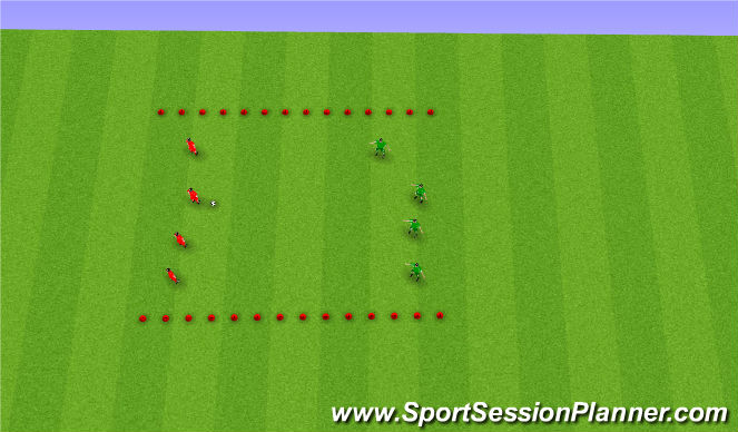 Football/Soccer Session Plan Drill (Colour): End Line Game
