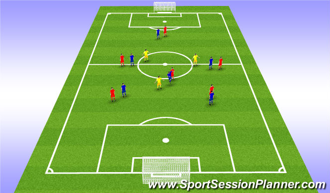Football/Soccer Session Plan Drill (Colour): Keeping possession to score